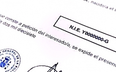 NIE – идентификационный номер иностранца в Испании.